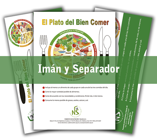 Imán y Separador de El Plato del Bien Comer