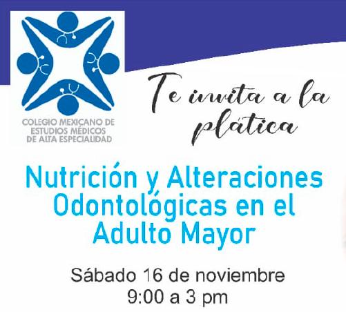 PLÁTICA DE NUTRICIÓN Y ALTERACIONES ODONTOLÓGICAS EN EL ADULTO MAYOR