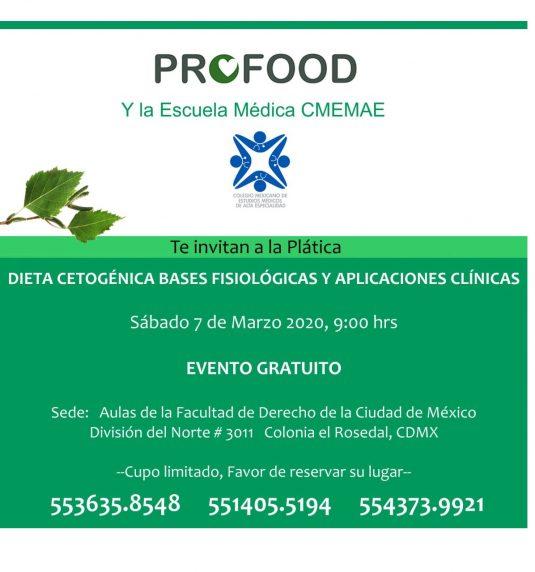 Plática Dieta Cetogénica: bases fisiológias y aplicaciones clínicas